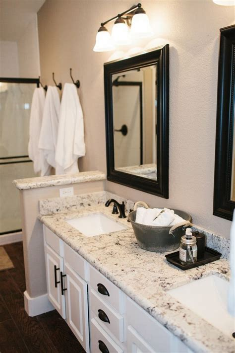 granite countertops in bathroom bathroom and kitchen granite countertops pros and cons founterior