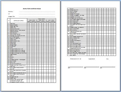 format buku pembinaan guru dan tas contoh format supervisi kelas dan instrumen supervisi guru
