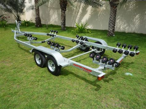 boat trailer double rollers master trailer uae