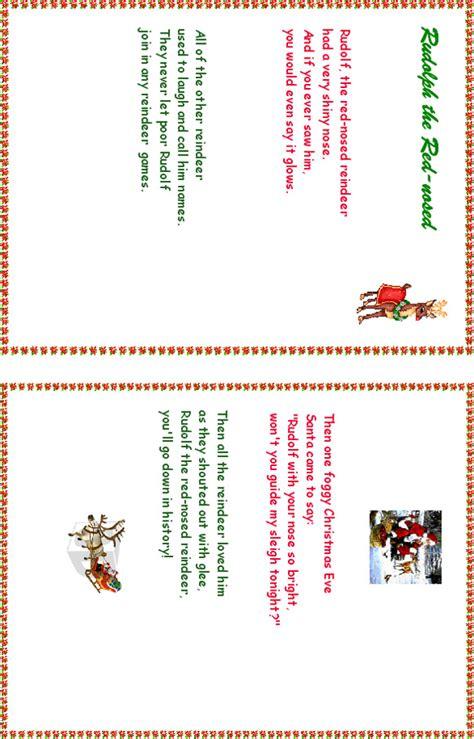 Imprimer Rudolph The Red Nosed Reindeer Chanson Noel