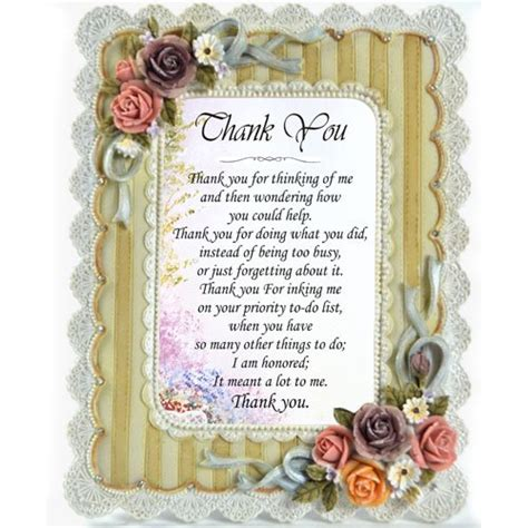appreciation letter for birthday gift quot thank you quot personalised appreciation gift frame