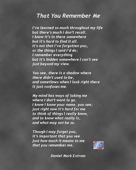 the things i forgot an ode to brain huffpost that you remember me a downloadable poem about alzheimer