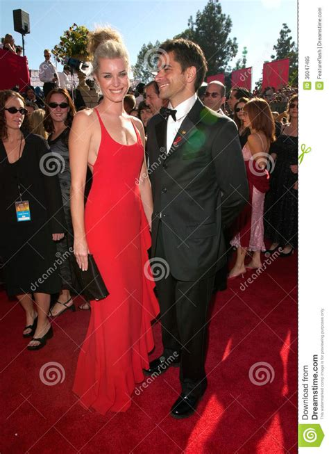 john stamos with wives rebecca romijn stamos john stamos editorial image image