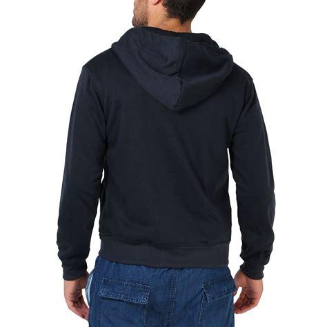 Sports Hooded Zip Top mens plain basic zip up fleece hoodie hooded cotton