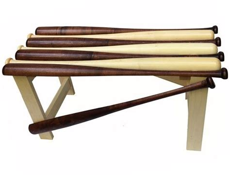 baseball bat bench plans hand crafted baseball bat bench is a handsome addition to