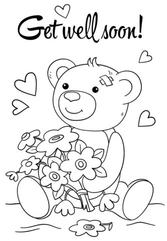 get color from image get well soon coloring page coloring images get