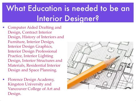 what education is needed to become an interior designer