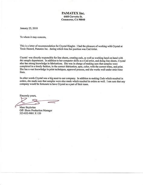 Recommendation Letter Format For A Coworker My Recommendation Letters On Behance