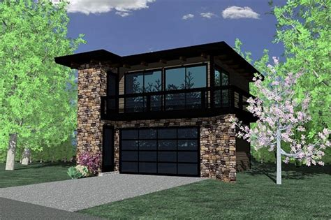 4 Bedroom Ranch Floor Plans by Contemporary Garage W Apartments Modern House Plans Home
