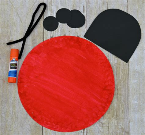 Ladybug Paper Plate Craft - paper plate ladybug craft for about a