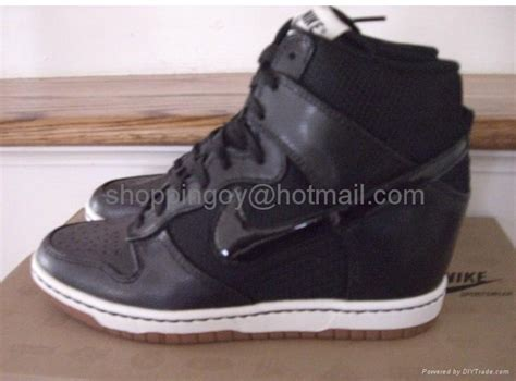 nike dunk sky high hi top mesh wedge sneakers nike