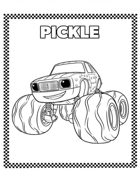 Blaze And The Monster Machines Coloring Pages Blaze Truck Boy Coloring Page