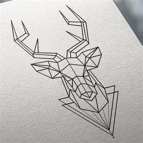 tattoo animal origami 17 best ideas about geometric deer on pinterest deer