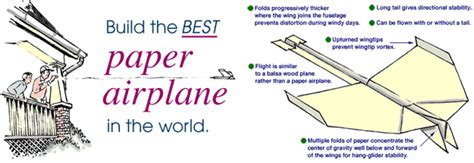 How To Fold The Best Paper Airplane - it s tgi friday the best paper airplane in the world