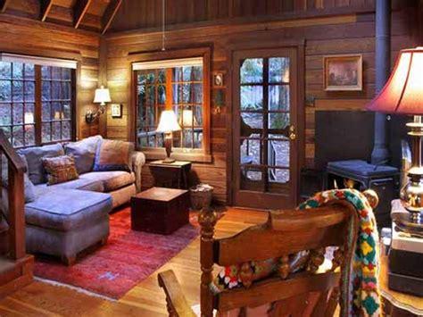 Inside A Living Room - tranquil redwood cabin mental scoop