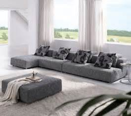 Grey Sectional Sofa With Chaise Modern Grey Sectional Modular With Chaise And Ottoman Plus Accent Pillows Decofurnish