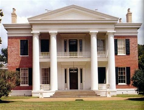 greek revival style melrose house natchez ms where i grew up pinterest
