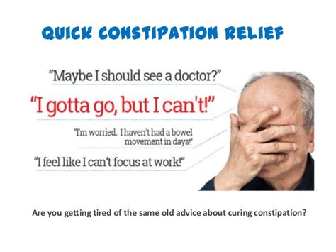 how to cure constipation fast