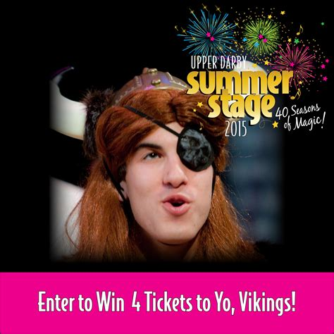 Vikings Tickets Giveaway - giveaway family 4 pack to yo vikings at upper darby summer stage frugal philly mom
