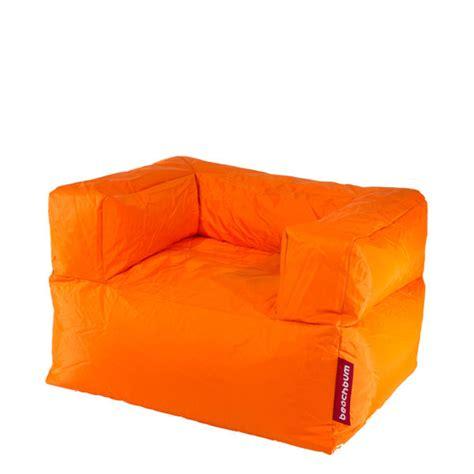 bean bag armchairs beachbum arm chair bean bag orange iwoot