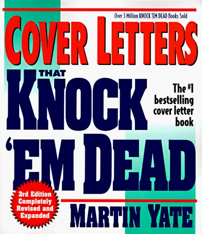 knock em dead cover letters sle cover letter martin yate cover letter exles