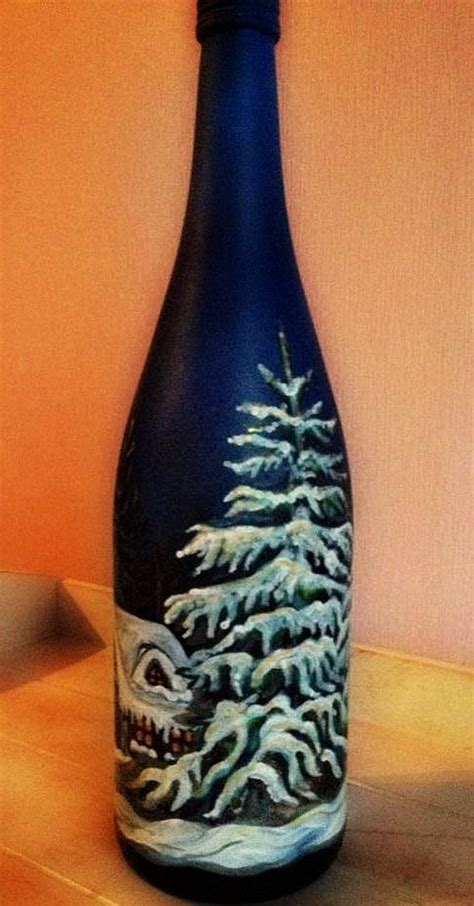 decorated wine bottles hand painted set of wine bottles christmas gifts decorated bottle of wine hand painted