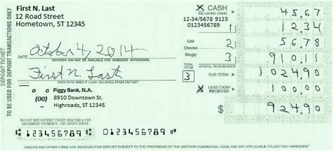 How Do You Pay Your Mba Deposit by Deposit Slip
