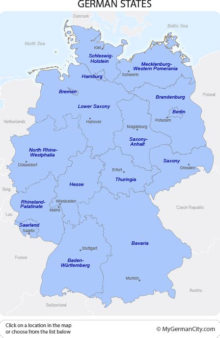 german states and capitals map german states prove of changes in germany