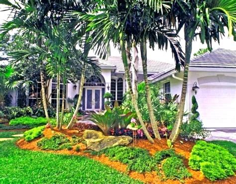 tropical landscaping ideas for front yard tropical