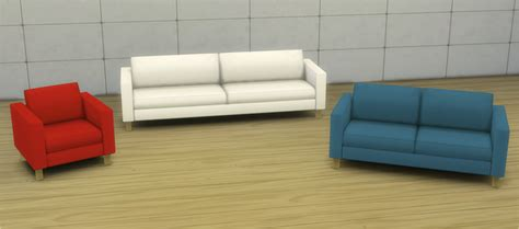 cc couch ikea karlstad seating by veranka teh sims