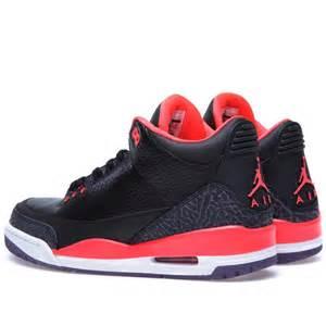Nike air jordan iii retro gs black amp bright crimson