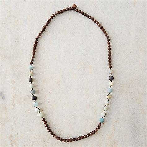 sandalwood bead necklace amazonite sandalwood beaded necklace terrain