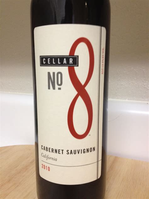 8 No Nos by 2010 Cellar No 8 Cabernet Sauvignon Pour Wine