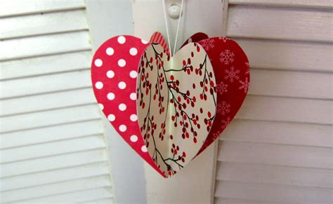 heart decorations home mothers day paper heart decoration card youtube