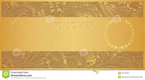 design background voucher gold voucher gift certificate coupon ticket stock