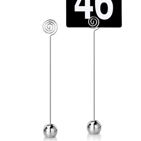 restaurant table number stands 9 inch stainless steel shaped mini table number