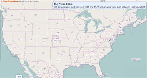 america map gif the number of us prisons skyrocket after 1980 vox