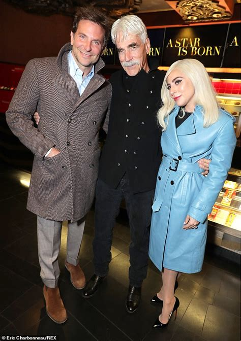 actress who starred in a star is born lady gaga and bradley cooper step out to support sam