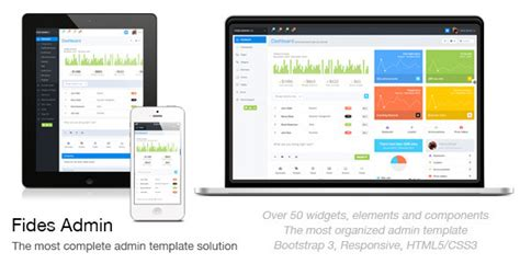 fides responsive bootstrap 3 admin template