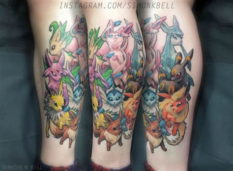 evolution tattoo designs beautiful eevee evolution by simon k bell