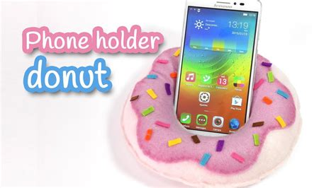 diy projects for craft diy crafts phone holder donut no sew innova crafts