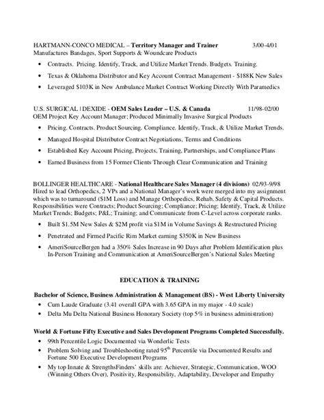 resume cover letter national sales manager