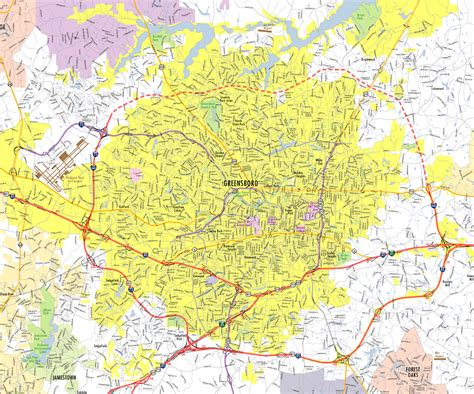 Greensboro Nc Records Map Of Greensboro Nc My