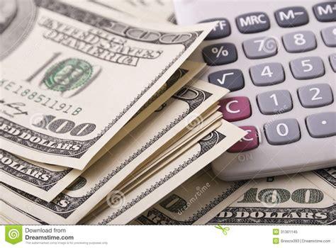 calculator dollar money and calculator royalty free stock photo image
