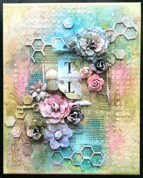 scrapbook canvas tutorial mixed media canvas scrapbook com altered canvas