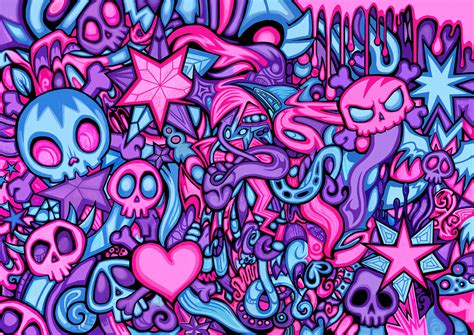 deviantart pattern swirly skull pattern by zyari on deviantart
