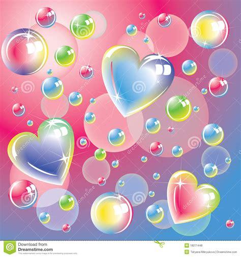 32 imgenes de corazones con movimiento para adornar el perfil de bright color hearts and soap bubbles royalty free stock