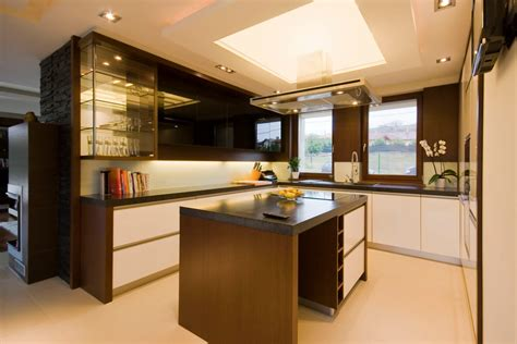 Modern Kitchen Lighting Ideas Modern Kitchen With Ceiling Lighting And Kitchen Cabinets