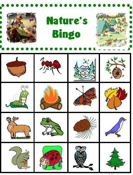 printable nature board games cing with kids outdoor bingo cing with kids