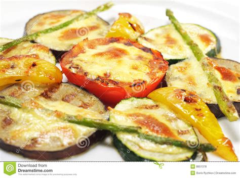side dishes grilled vegetables royalty free stock photos